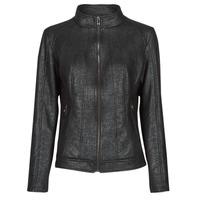 textil Mujer Chaquetas de cuero / Polipiel Desigual COMARUGA Negro