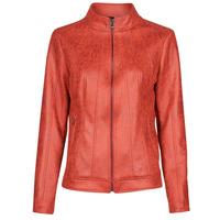 textil Mujer Chaquetas de cuero / Polipiel Desigual COMARUGA Rojo