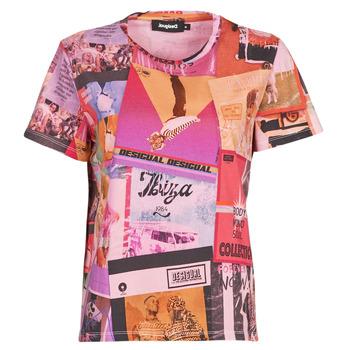 textil Mujer Camisetas manga corta Desigual PROCLAIM Multicolor