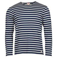 textil Hombre Camisetas manga larga Armor Lux MARINIERES RUSTIQUE BIO GA1 Azul