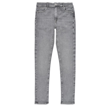 textil Niña Vaqueros slim Pepe jeans PIXLETTE HIGH Gris