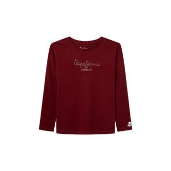 textil Niña Camisetas manga larga Pepe jeans NURIA LS Rojo