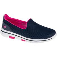 Zapatos Mujer Slip on Skechers Go Walk 5 Fantasy Bleu marine