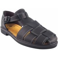 Zapatos Hombre Sandalias de deporte Bienve Zapato caballero  13 negro Negro