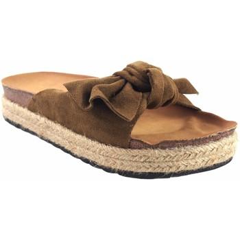 Zapatos Niña Zuecos (Mules) Bubble Bobble Sandalia niña  a3296 cuero Marrón