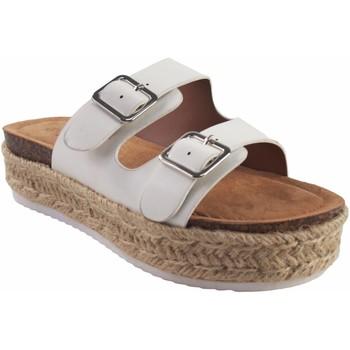 Zapatos Niña Zuecos (Mules) Bubble Bobble Sandalia niña  a3299 blanco Blanco