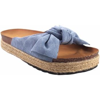 Zapatos Niña Zuecos (Mules) Bubble Bobble Sandalia niña  a3296 vaquero Azul