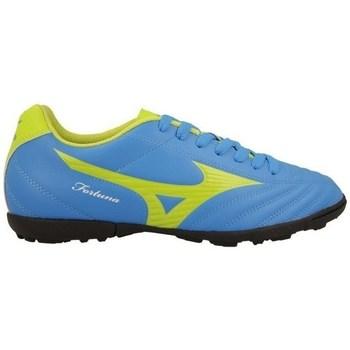 Zapatos Hombre Fútbol Mizuno Fortuna 4 AS Azul, Verde claro