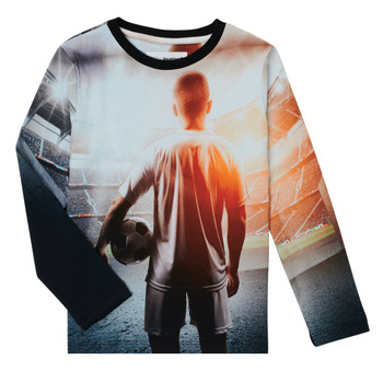 textil Niño Camisetas manga larga Desigual FOOTBALL Gris