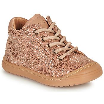 Zapatos Niña Botas de caña baja Bisgaard THOR Rosa / Oro