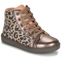 Zapatos Niña Zapatillas altas Bisgaard GAIA Leopardo / Oro