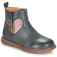 Zapatos Niña Botas de caña baja Bisgaard MAGGIE Marino / Plata