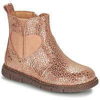 Zapatos Niña Botas de caña baja Bisgaard MELODY Rosa / Oro