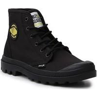 Zapatos Mujer Botas de caña baja Palladium Manufacture Hi Be Kind  77079-008-M negro