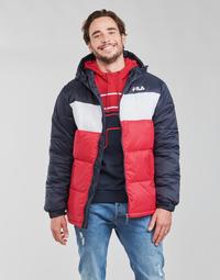 textil Hombre Plumas Fila SCOOTER PUFFER JACKET Rojo / Marino / Blanco