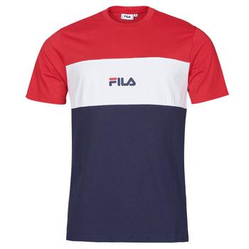 textil Hombre Camisetas manga corta Fila ANOKI Rojo / Marino / Blanco