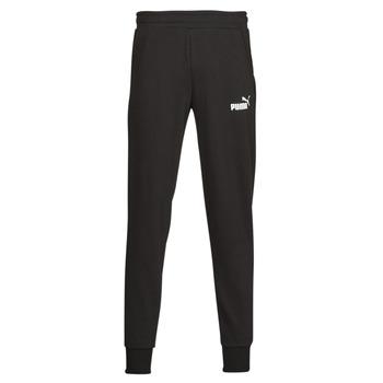 textil Hombre Pantalones de chándal Puma ESS LOGO PANTS FL CL Negro