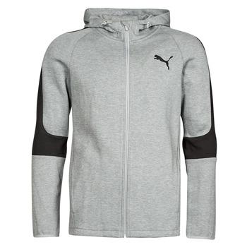 textil Hombre Sudaderas Puma EVOSTRIPE CORE FZ HOODIE Gris / Negro