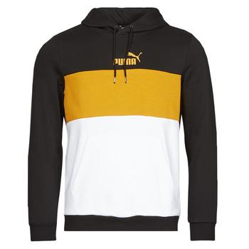 textil Hombre Sudaderas Puma ESS+ COLORBLOCK HOODIE FL Negro / Amarillo
