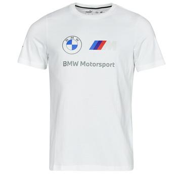 textil Hombre Camisetas manga corta Puma BMW MMS ESS LOGO TEE Blanco