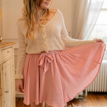 textil Mujer Faldas Céleste EGLANTINE Rosa