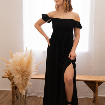 textil Mujer Vestidos largos Céleste PATCHOULI Negro