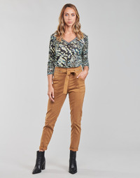 textil Mujer Pantalones con 5 bolsillos One Step FT22111 Beige
