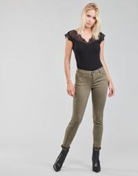 textil Mujer Pantalones con 5 bolsillos Morgan PETRA Tomillo