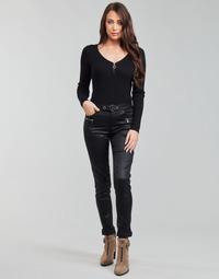 textil Mujer Pantalones con 5 bolsillos Morgan PBIKER Negro