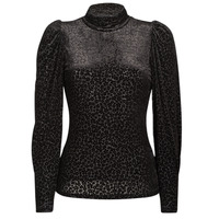 textil Mujer Camisetas manga larga Morgan TISPI Negro