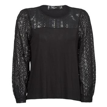 textil Mujer Camisetas manga larga Deeluxe FRIDA Negro