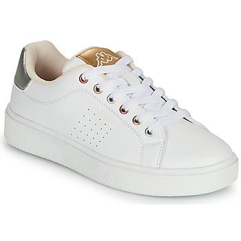 Zapatos Niña Zapatillas bajas Kappa SAN REMO Blanco / Oro / Plata