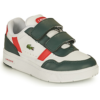 Zapatos Niños Zapatillas bajas Lacoste T-CLIP 0121 2 SUI Blanco / Verde / Rojo