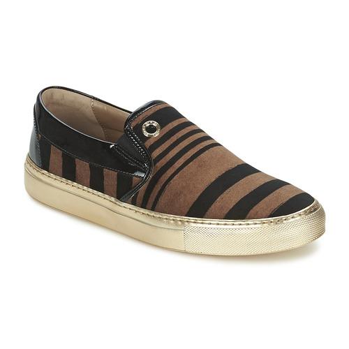Zapatos Mujer Slip on Sonia Rykiel STRIPES VELVET Negro / Marrón