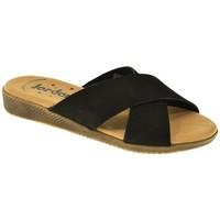 Zapatos Mujer Zuecos (Mules) Jordana SANDALIA PLANA  NEGRO Negro