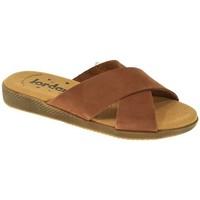 Zapatos Mujer Zuecos (Mules) Jordana SANDALIA PLANA  CUERO Marrón