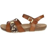 Zapatos Mujer Sandalias Yokono IBIZA-153 Marrón cuero