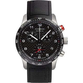 Relojes & Joyas Hombre Relojes analógicos Zeppelin 7294-4KB, Quartz, 42mm, 10ATM Plata