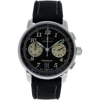 Relojes & Joyas Hombre Relojes analógicos Zeppelin 8674-3, Quartz, 43mm, 5ATM Plata