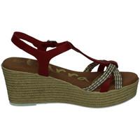 Zapatos Mujer Sandalias Karralli Sandalias cuÑa alta ROJO