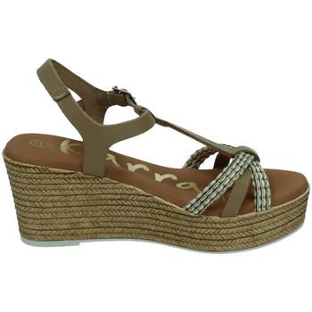 Zapatos Mujer Sandalias Karralli Sandalias cuÑa alta TAUPE