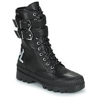 Zapatos Mujer Botas de caña baja Karl Lagerfeld TREKKA II HI CUFF BUCKLE BOOT Negro