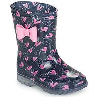 Zapatos Niña Botas de agua Be Only LOVANA FLASH Rosa / Marino