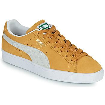 Zapatos Zapatillas bajas Puma SUEDE Amarillo / Blanco