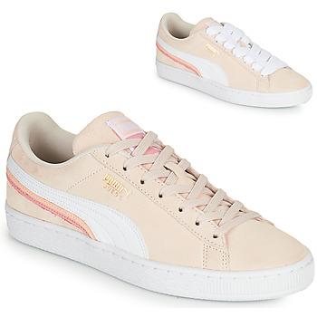 Zapatos Mujer Zapatillas bajas Puma SUEDE TRIPLEX Rosa / Blanco