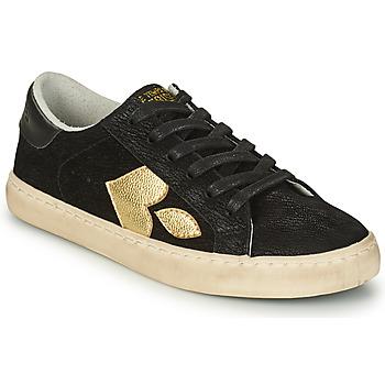 Zapatos Mujer Zapatillas bajas Le Temps des Cerises AUSTIN Negro / Oro