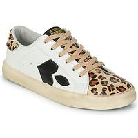 Zapatos Mujer Zapatillas bajas Le Temps des Cerises AUSTIN Blanco / Leopardo