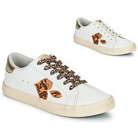 Zapatos Mujer Zapatillas bajas Le Temps des Cerises AUSTIN Blanco / Oro