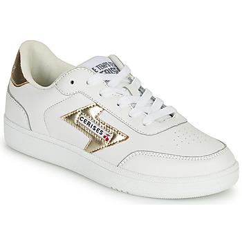 Zapatos Mujer Zapatillas bajas Le Temps des Cerises FLASH Blanco / Oro