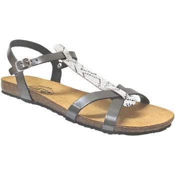 Zapatos Mujer Sandalias Plakton Mam coco Cuero gris metal